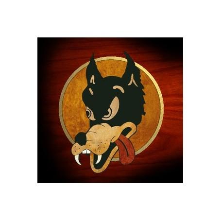 Sticker guitare signature Jerry Garcia loup