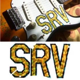 Sticker guitare signature logo pickguard Stratocaster SRV