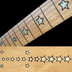 Sticker guitare signature étoiles sambora blanc abalone