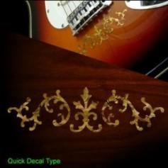 Sticker guitare signature vigne SRV jaune abalone