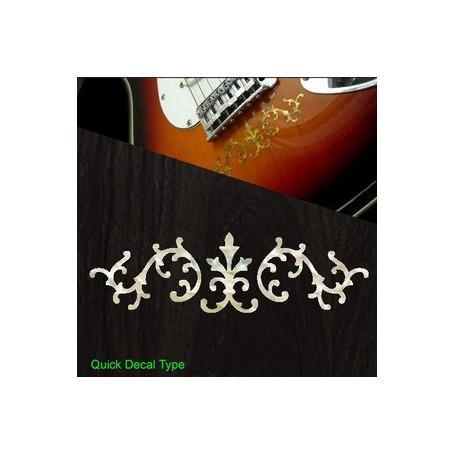 Sticker guitare signature vigne SRV blanc abalone