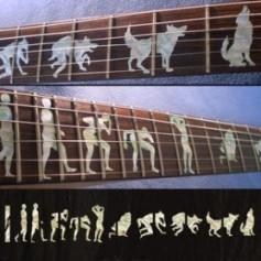 Sticker guitare signature loup-garou