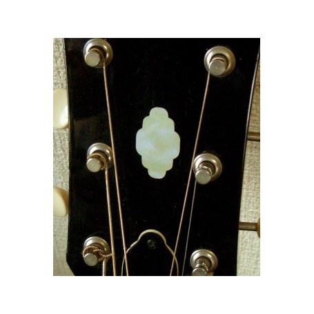 Sticker tête guitare nuage blanc abalone headstock