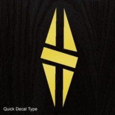 Sticker tête guitare diamant type Gibson® dore