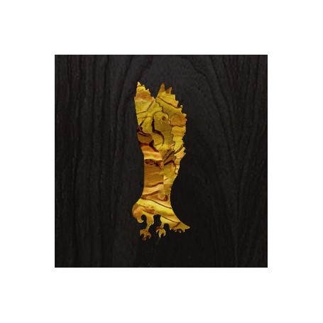 Sticker tête guitare aigle jaune abalone