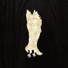 Sticker tête guitare aigle blanc abalone