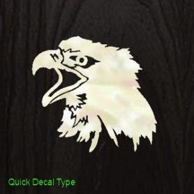 Sticker tête guitare tête d'aigle