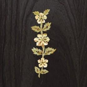 Sticker tête guitare fleur de vigne blanc abalone
