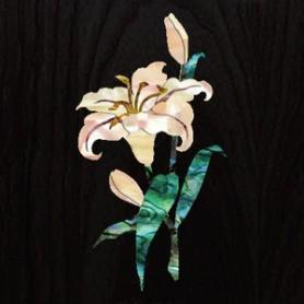 Sticker tête guitare fleur de lys