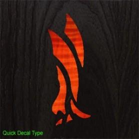 Sticker tête guitare aigle moderne sunburst