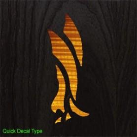 Sticker tête guitare aigle moderne tobacco burst