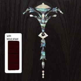 Sticker tête guitare vieille pointe bleu abalone