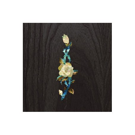Sticker tête guitare rose de vigne blanc abalone