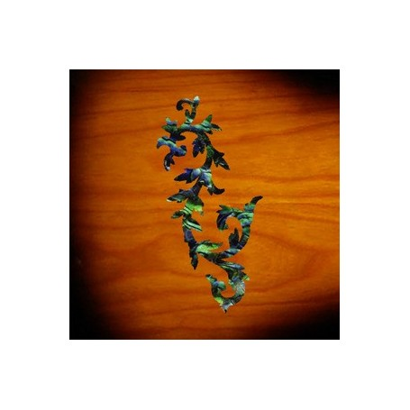 Petit sticker guitare arabesque vert abalone