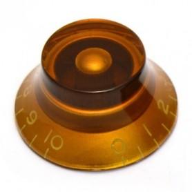 Bouton type LesPaul US hut ambre