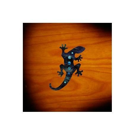 Petit sticker guitare lézard noir pearl