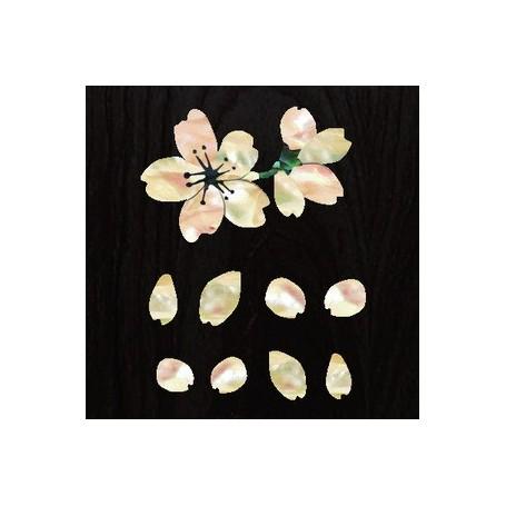 Petit sticker guitare fleur sakura