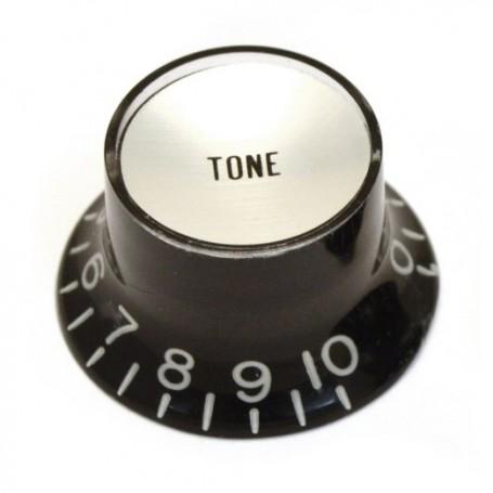 Bouton type SG US tone noir & chrome