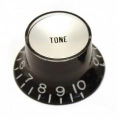 Bouton type SG® US tone noir & chrome