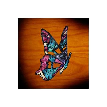 Grand sticker guitare papillon fee