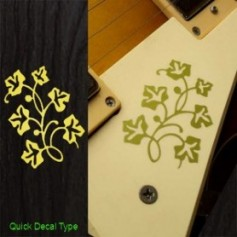 Grand sticker guitare fleur dorée