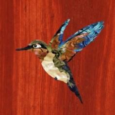Grand sticker guitare oiseau