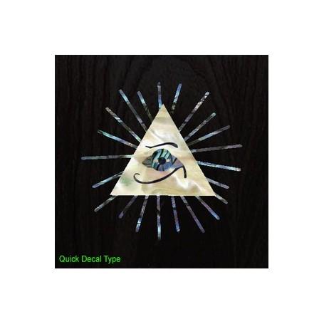 Grand sticker guitare oeil pyramide