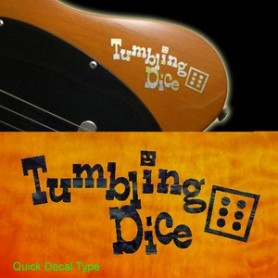 Grand sticker guitare tumbling dice noir pearl