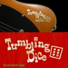 Grand sticker guitare tumbling dice blanc abalone