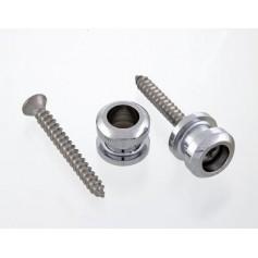 2 boutons pour attache sécurité Schaller® chrome