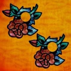 Sticker guitare chevalet rose (2 pieces)
