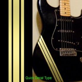 Sticker guitare ligne compétition champagne dore