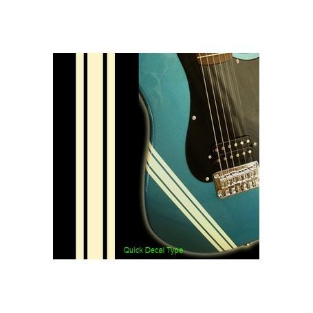 Sticker guitare ligne compétition olympic blanc