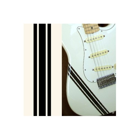 Sticker guitare ligne compétition solid noir