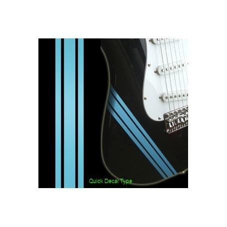 Sticker guitare ligne compétition sonic bleu