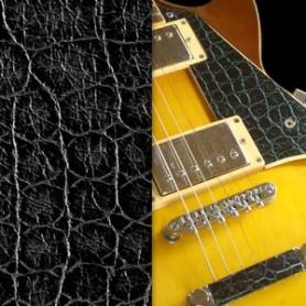 Sticker guitare texture crocodile noir