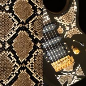 Sticker guitare texture serpent