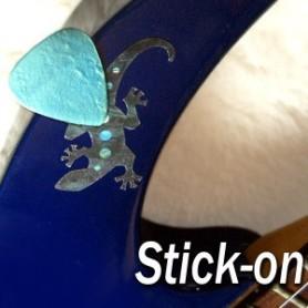 Sticker guitare porte médiator lezard