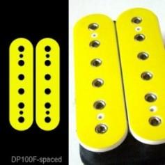 Sticker guitare micro humbucker jaune pour espacement 50mm