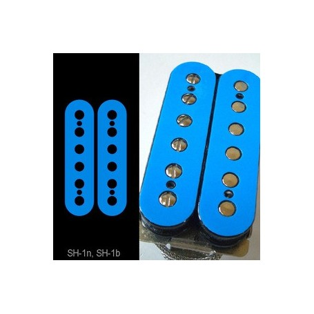 Sticker guitare micro humbucker pour espacement 49,2mm bleu