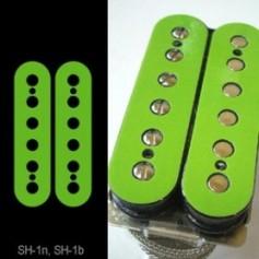 Sticker guitare micro humbucker pour espacement 49,2mm vert