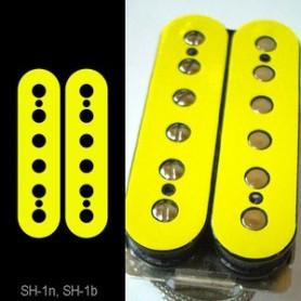 Sticker guitare micro humbucker pour espacement 49,2mm jaune