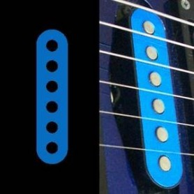 Sticker guitare micro simple bleu