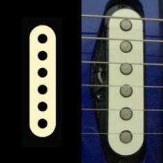 Sticker guitare micro simple creme