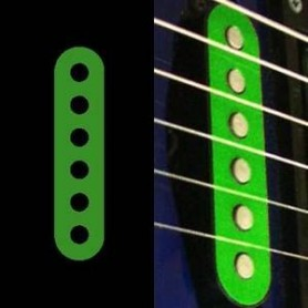 Sticker guitare micro simple vert