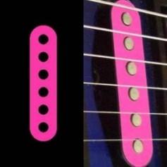 Sticker guitare micro simple rose