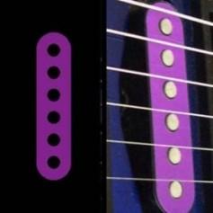 Sticker guitare micro simple violet