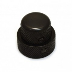 Double bouton à vis 25x19 noir