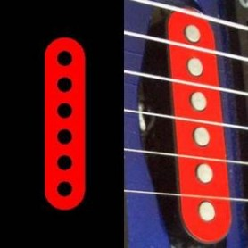 Sticker guitare micro simple rouge