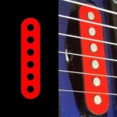 Sticker guitare micro simple rouge